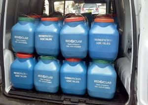 El trabajo de REDCICLAR incluso ha permitido recolectar aceite que¬mado para evitar que se arroje por los alcantarillados