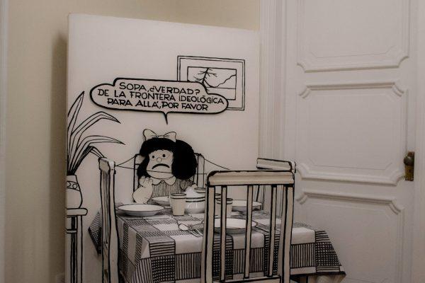 Exposición de Mafalda en  Cali,  Fotos cortesía para El Giro